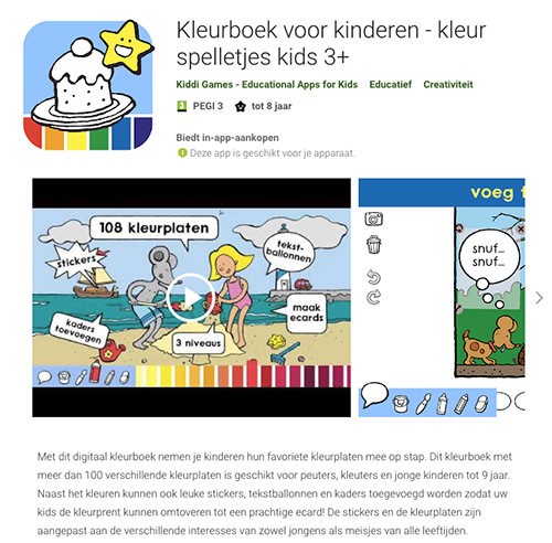 Colouring book kids & toddlers now available in Google Play