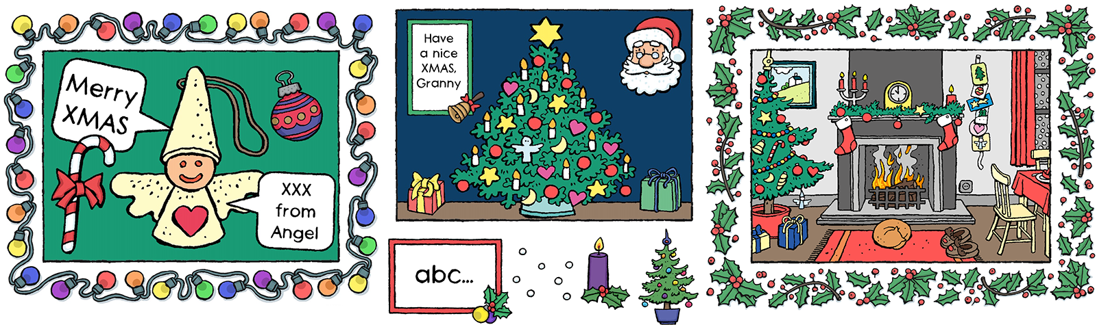 Have a great Christmas with Colouring book kids & toddlers